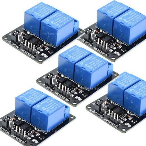 5pcs 5V Dual Channel 2 Relay Module Arduino Relays Switch 110V 115V 120V 220V US