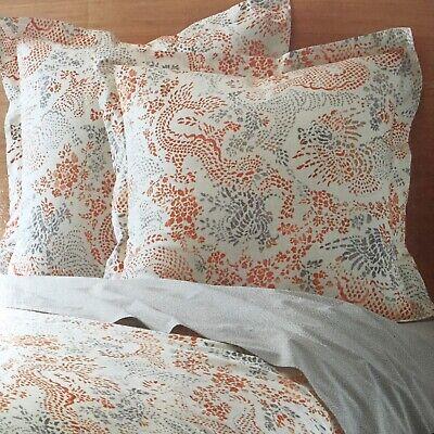 Dwell Studio Jakarta Full/Queen Comforter & Set of 2 Euro Pillow Shams Sienna