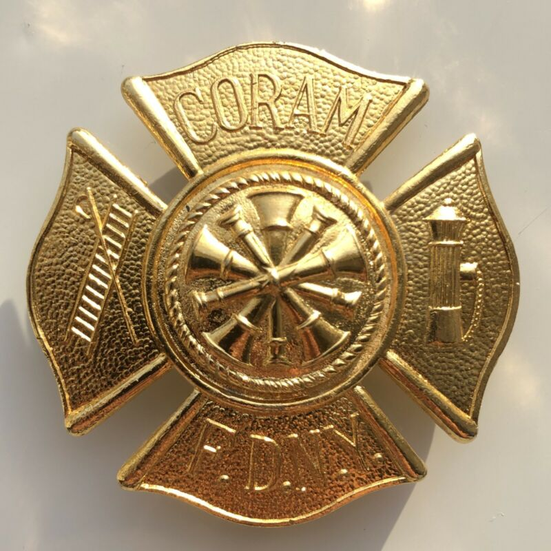 Fire Department New York Coram Badge RARE FDNY F.D.N.Y Long Island Vintage
