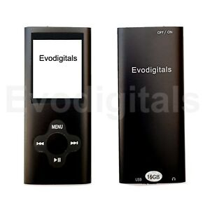 NEW EVO 16GB BLACK ELITE MP3 MEDIA MP4 PLAYER MUSIC VIDEO FM TUNER GAMES VOICE +