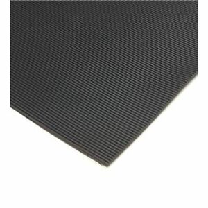 Anti Slip Black Ribbed Rubber Matting 3mm Thick X 1 2m
