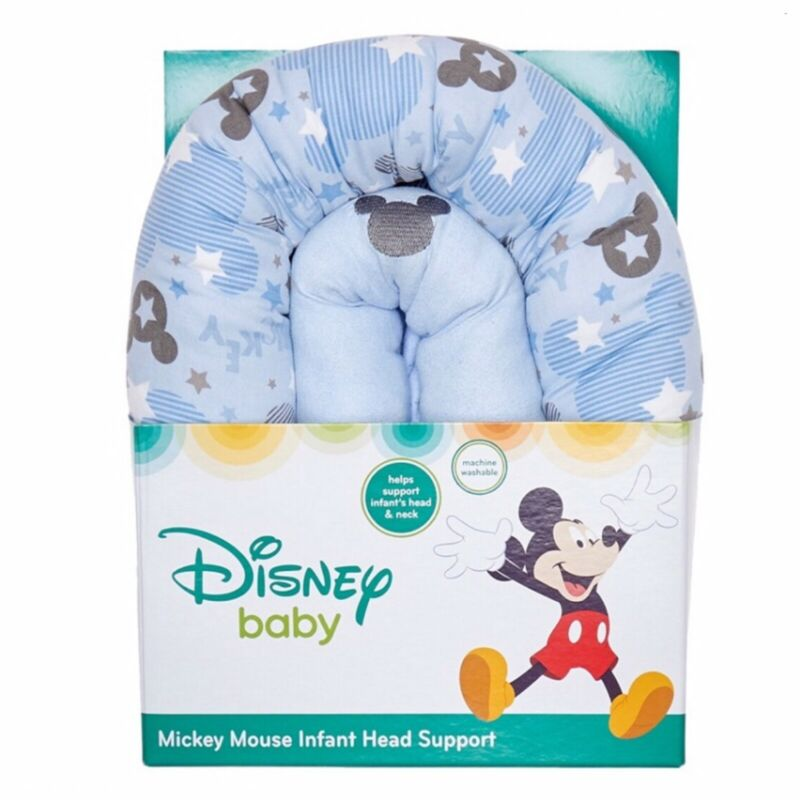 Infant Head Support~Blue~Machine Washable~NEW~Disney~Mickey Mouse~