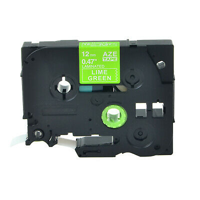 Tz Tze-mqg35 White On Lime Green Label Tape For Brother P-touch Pt-1880 12mm8m