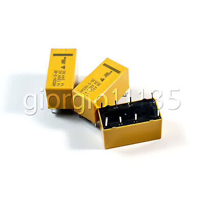 Us Stock 5pcs Dtdp Relay 24 Volt Coil Pcb Hrs Relay Hrs2h-s-dc24v 8 Pin