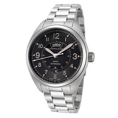 Hamilton Men's Khaki Field H70505933 42mm Black Dial Stainless Steel Watch