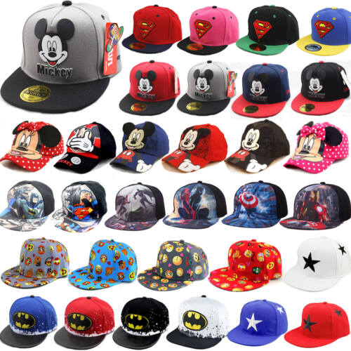 Kinder Jungen Mädchen Superheld Snapback Mütze Hut Visor Basecap Kappe Sonnenhut
