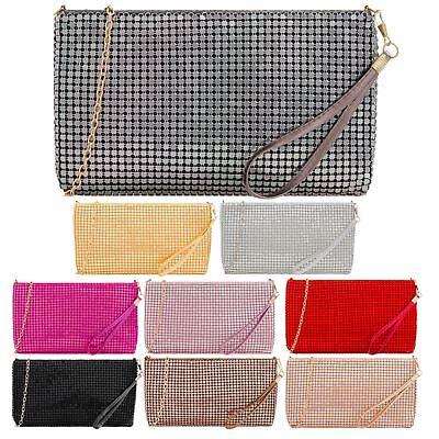 Women's New Chain Strap Wristlet Chainmail Handbag Pouch P
