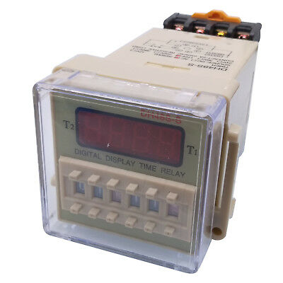 Us Stock Ac 110v Digital Precision Programmable Time Delay Relay Dh48s-s Base