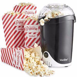 VonShef Fat-Free Hot Air Popcorn Maker / Popcorn Machine