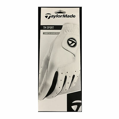 TaylorMade TM Sport Cabretta Leather Palm White Golf Glove - Pick Size ()