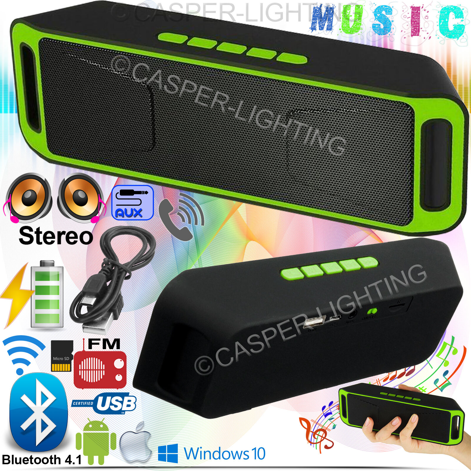 20W Wireless Bluetooth Portable Speaker Big Power  Handsfree TF Mp3 TF/USB/AUX
