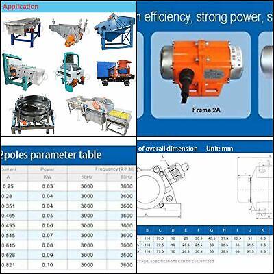 Concrete Vibration Motor 30w Ac 110v 3600rpm Aluminum Alloy For Shaker Table 30w