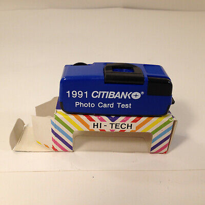 "Rare Vintage Micro 110 Camera ""Citibank Promo"" w/ Box,1991, Collectable Ad Item"