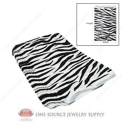 100 Zebra Print Gift Bags Merchandise Bags Paper Bags 6x 9