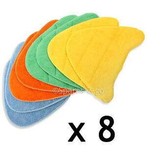 8 x Floor Covers Pads for VAX S5 S6 S6S S7 S7-A S7-A+ S7-AV Steam Cleaner Mop