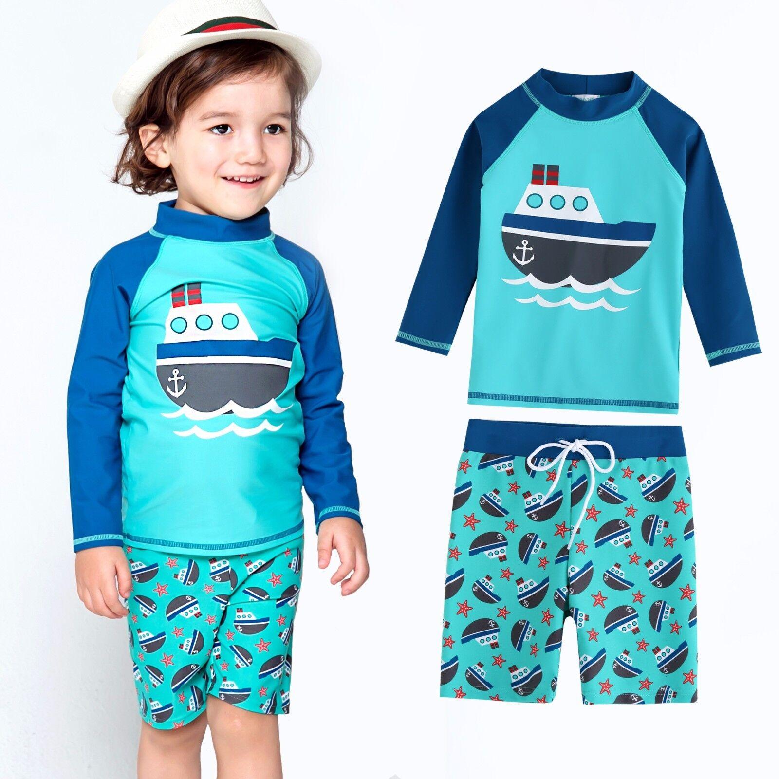 Vaenait baby Toddler UPF+50 Kids Boy Rashguard  Swimsuit Set