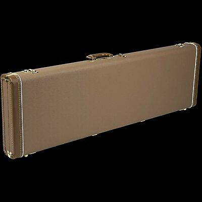 Fender Deluxe Jazz Bass Case (Brown/Gold)