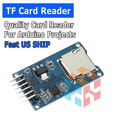 Micro Sd Tf Memory Card Reader Module With Spi Interface For Arduino - Us Stock