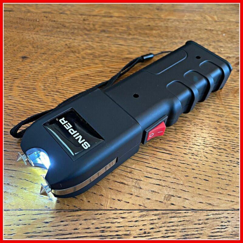 SNIPER Military Grade Stun Gun 675 BV Heavy Duty - Rechargeable LED Flashlight