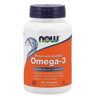 NOW Foods Omega-3, 1000 mg, 100 Softgels