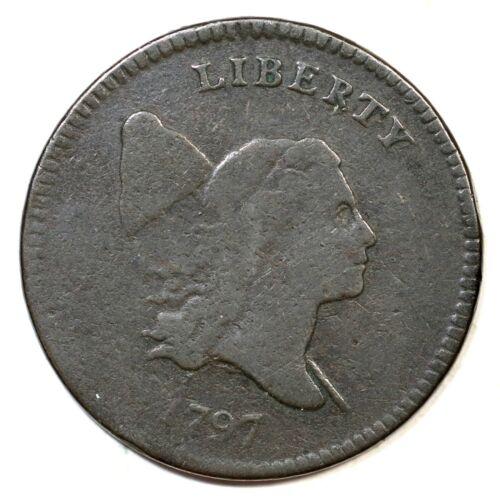 1797 C-1 R-2 1 Above 1 Liberty Cap Half Cent Coin 1/2c