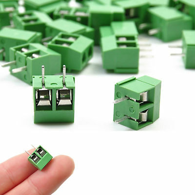 30pcs 2 Pin Screw Green Pcb Wire Terminal Block Cable Connector 5mm Pitch Gl514