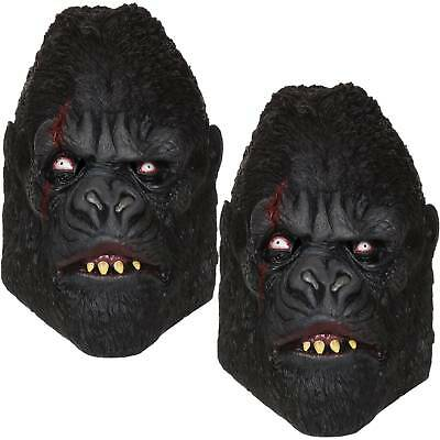 2 x Zombie Gorilla  Maske Affe Tier Gorillamaske Affenmaske Halloween Fasching