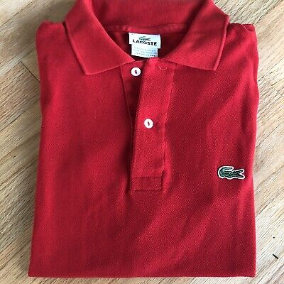 Lacoste Mens Polo Shirt Size 4 Red In Mint Condition