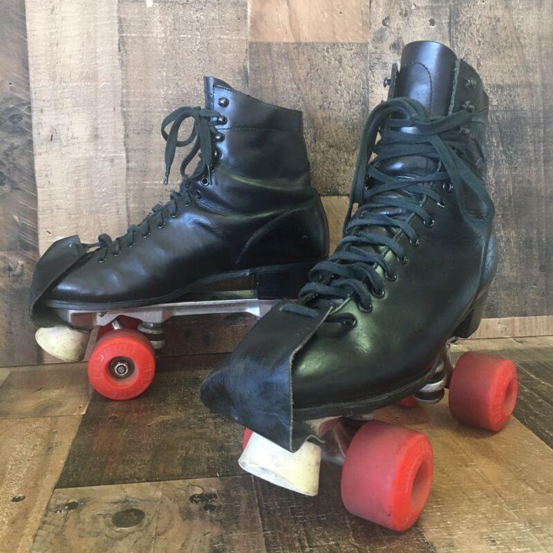 Vintage HYDE Roller Skates BLACK Sure Grip Mens 10