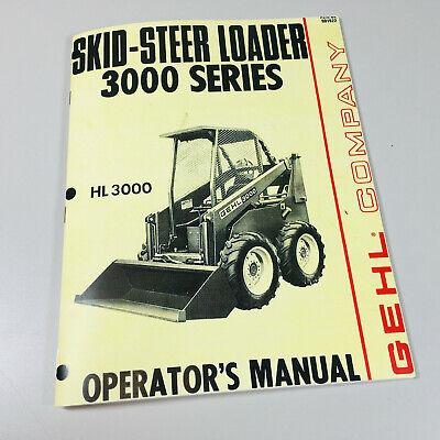 Gehl Hl 3000 Series Skidsteer Loader Owner Operators Manual Maintenance