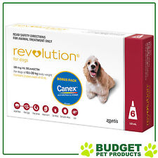 REVOLUTION For Dogs 10.1-20kg Red 6 Pack With Canex
