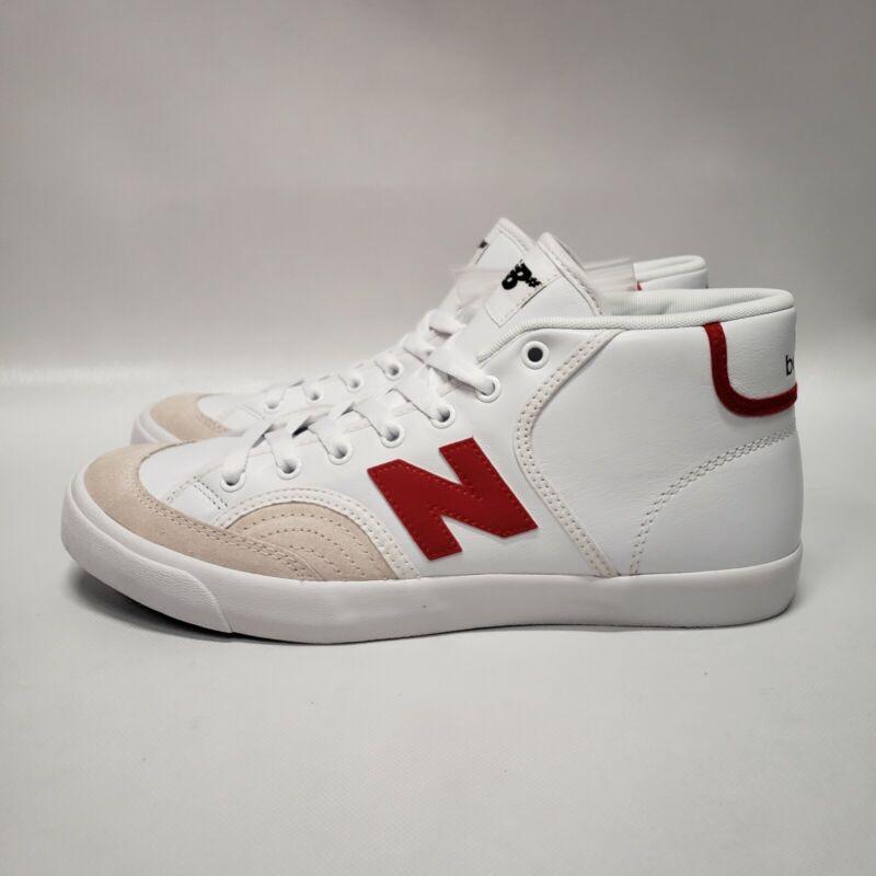 New Balance Numeric 213 White Red Beige Mid Skate Shoes NM213RAD Men