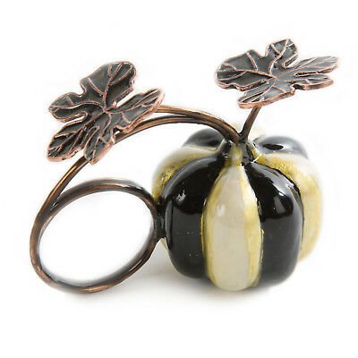 Mackenzie-Childs Set Of 4 Courtly Stripe Pumpkin Napkin Ring