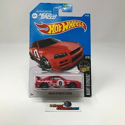 Nissan Skyline GT-R (R34) #83 * RED * 2017 Hot Wheels * WK5