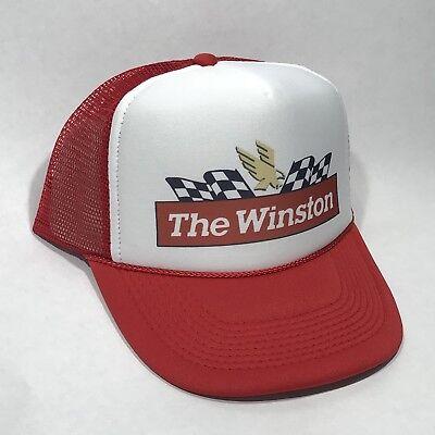 The Winston Cup Series NASCAR Race Car Vintage Trucker Hat Snapback Mesh Cap Red Serie Mesh Cap