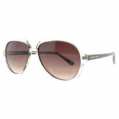Michael Kors M2811S 210 Brown Crystal Aviator Brown Lens Women Sunglasses