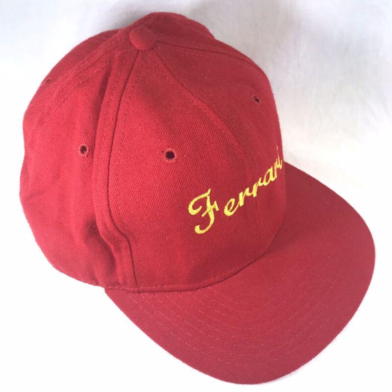 Collectible Red Ferrari Cap Baseball Hat