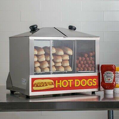 Avantco 100 Dog 48 Bun Commercial Hot Dog Concession Stand Carnival Steamer