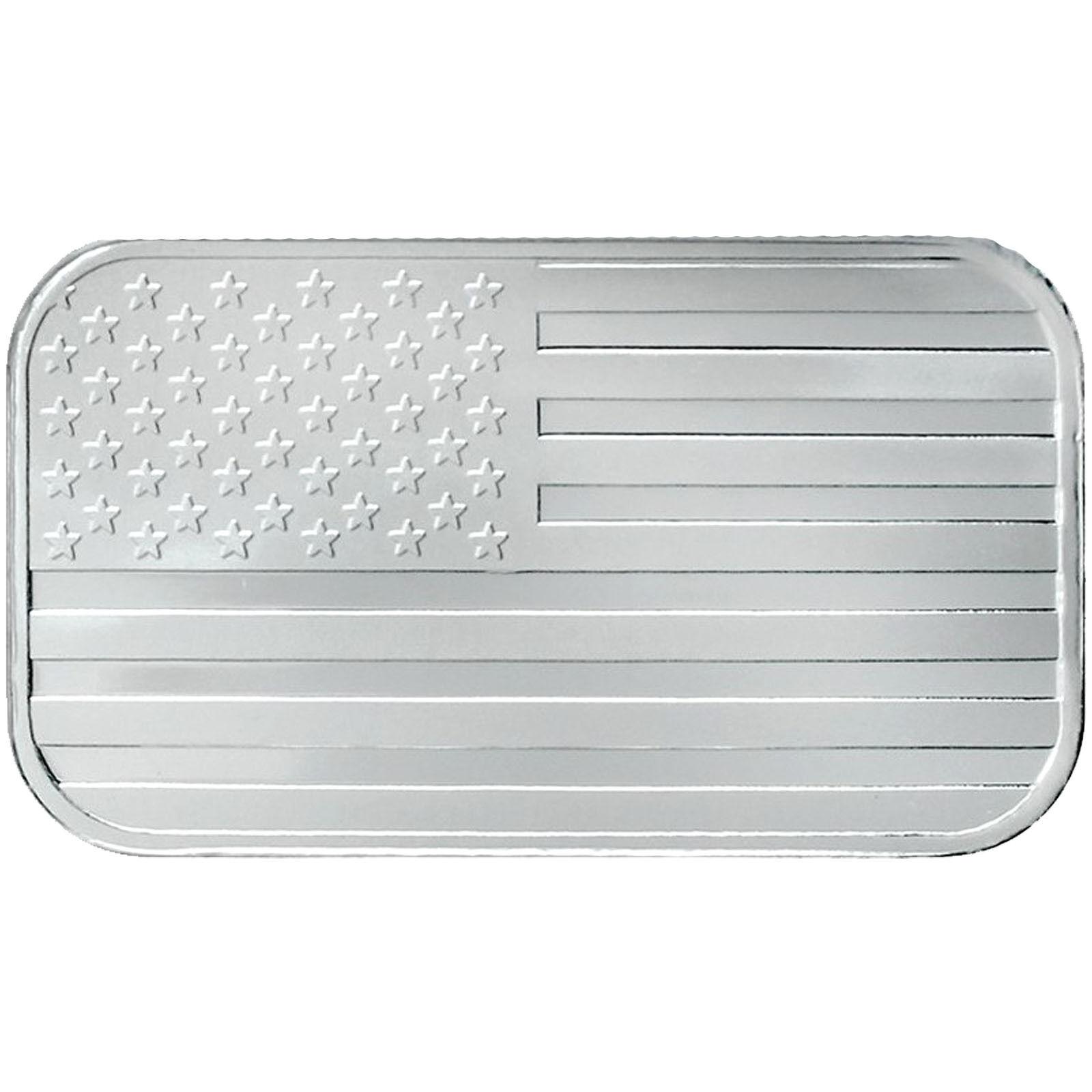 American Flag 1oz .999 Fine Silver Bar by SilverTowne LOT of 500