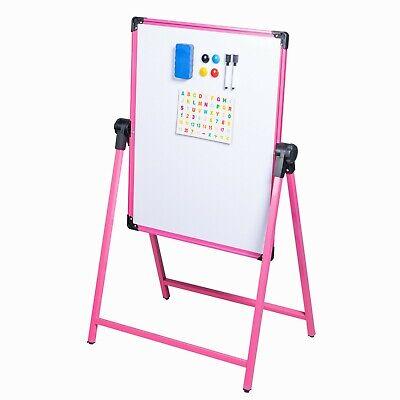 Kids Magnetic Easel Whiteboard Drawing Board Dry Erase Mark Board Double Sided