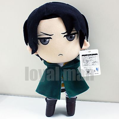 12  Levi Plush Doll New Attack On Titan Rivaille Soft Stuffed Toy Cool Grey Eyes