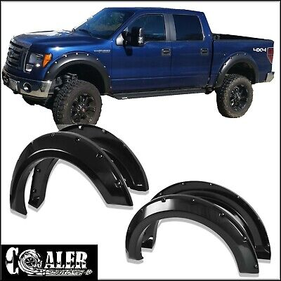 04-08 Ford F-150 Pickup Bolt On Rivet Style Fender Flares Set Smooth Paintable Fender Ford Pickup