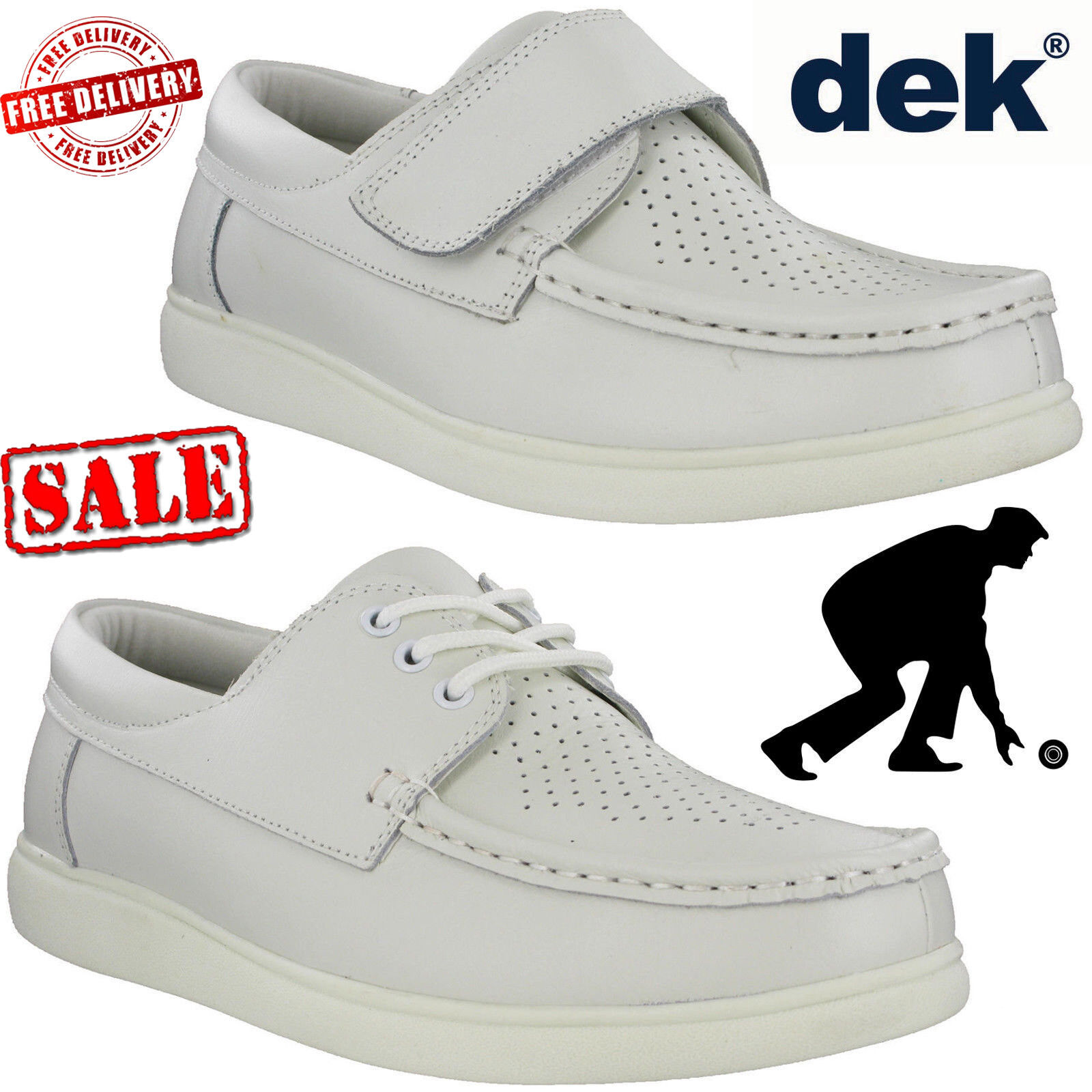 Leather Lawn Bowling Trainers