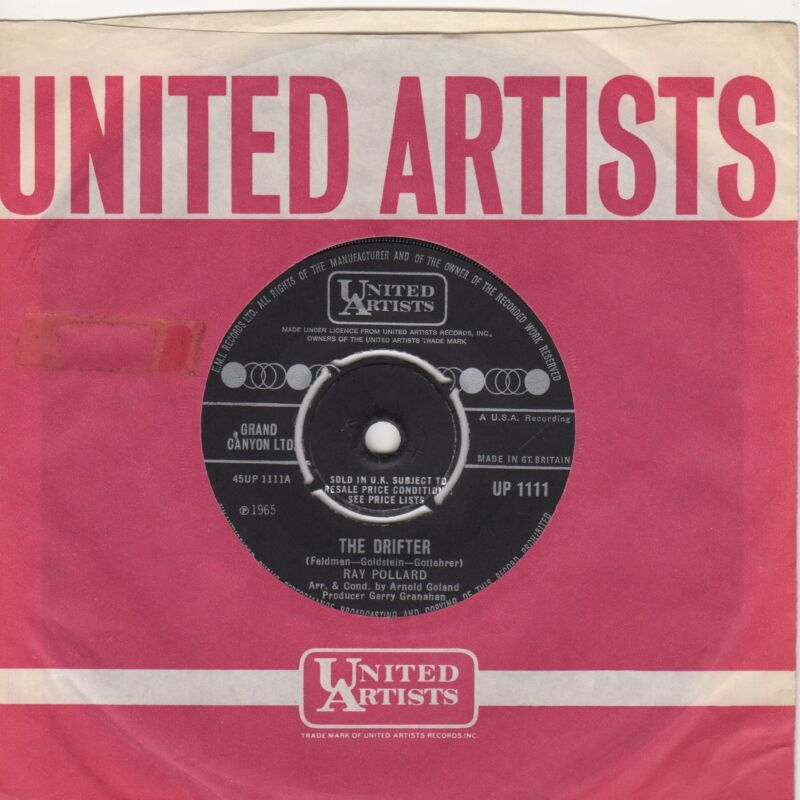 Ray Pollard The Drifter United Artists UP 1111 Soul Northern motown