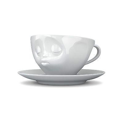 Fiftyeight Kaffeetasse KÜSSEND / weiß