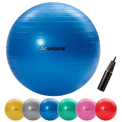 ScSPORTS® Gymnastikball Sitzball 65 cm Fitnessball Sportball Büroball mit Pumpe