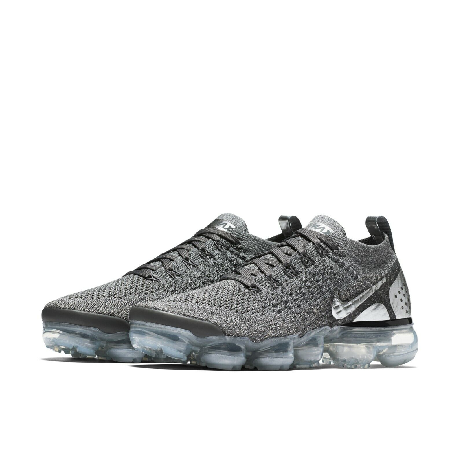 finest selection 7125e 7e6e2 Details about Nike Womens Wmns Air Vapormax Flyknit 2 Dark Grey Chrome  Running Shoe 942843-013