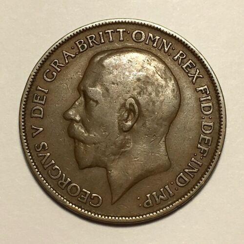 1918 KN Great Britain Penny, George V, KM# 810, F/VF  #2670