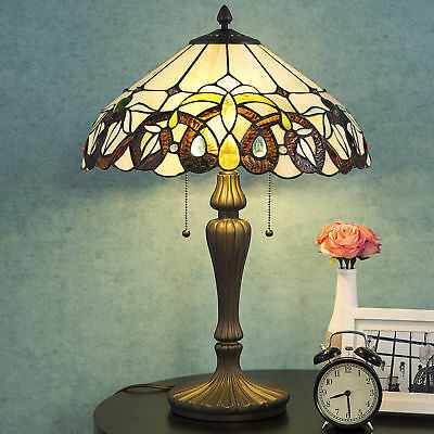 Tiffany Style Lamp Baroque Stained Window Desk Lamp Home Decor Lighting