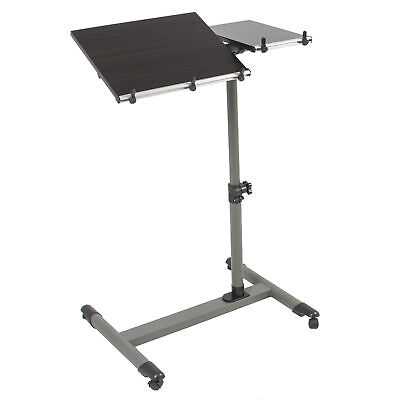 Patient Tray Cart - Rolling Laptop Patient Table Tilting Tabletop Overbed Desk Hospital Tray Cart
